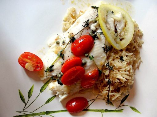 Pangasius with cherry tomatoes and garlic - Your everyday fish