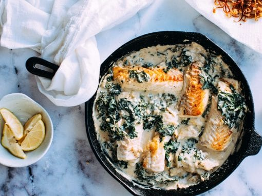 Creamy pangasius with spinach – Your everyday fish