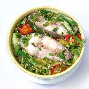 Tamarind pangasius soup