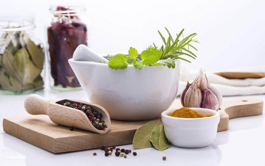 Hierbas saludables y panga